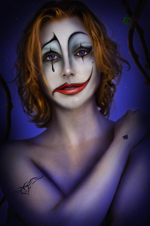 Blonde Hair Digital Art - Double Face by Alessandro Della Pietra