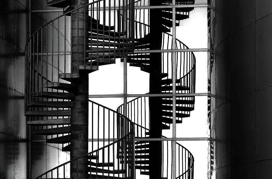 Stairs Photograph - Double Mix by Hans-wolfgang Hawerkamp