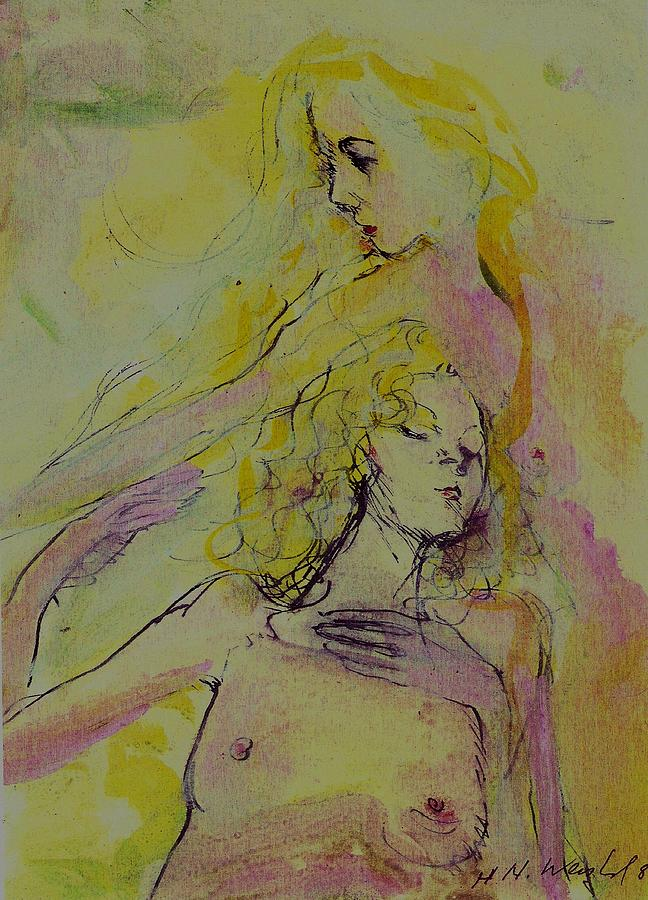 Nude Painting - Double Nudes by Harry WEISBURD