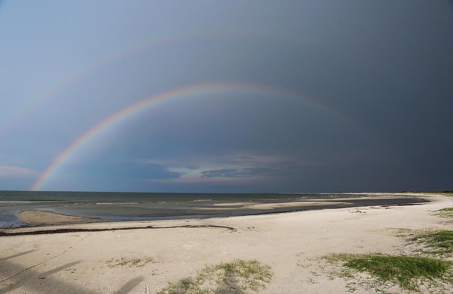 Double Rainbow Beach Photograph