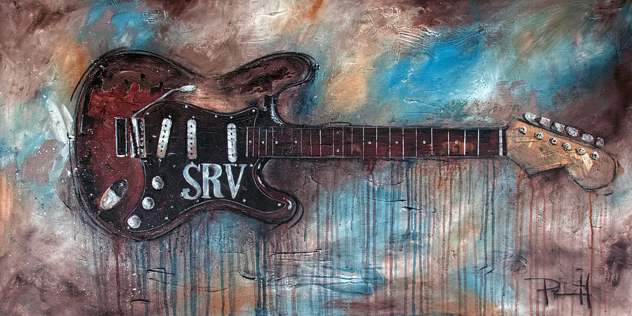 Stevie Ray Vaughan Painting - Double Trouble by Sean Parnell
