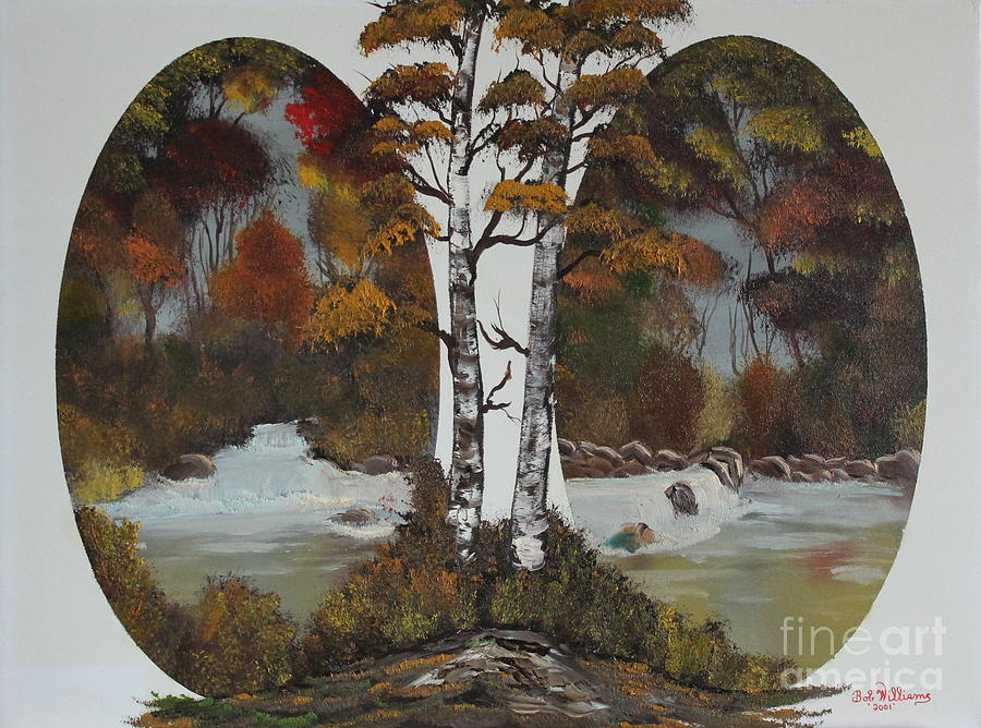 Oil Painting Painting - Doubling The Autumn Splendor by Bob Williams