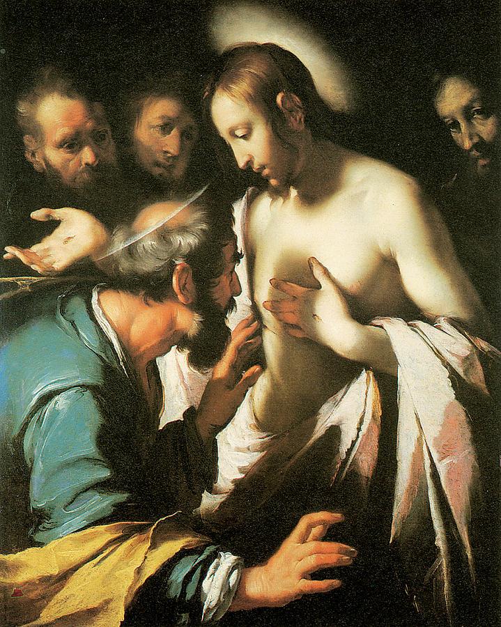 Bernardo Strozzi Painting - Doubting Thomas by Bernardo strozzi