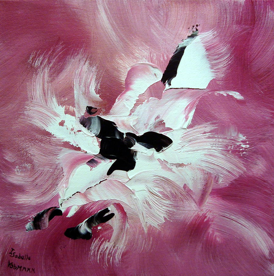 Abstract Painting - Douceur by Isabelle Vobmann