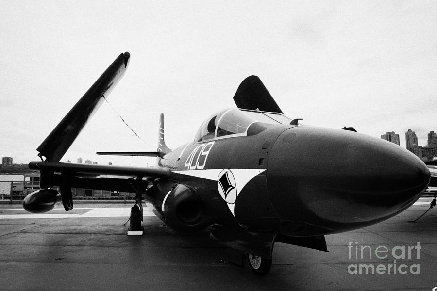 Usa Photograph - Douglas F3d 2 F3d2 Skyknight On Display On The Flight Deck At The Intrepid Sea Air Space Museum by Joe Fox