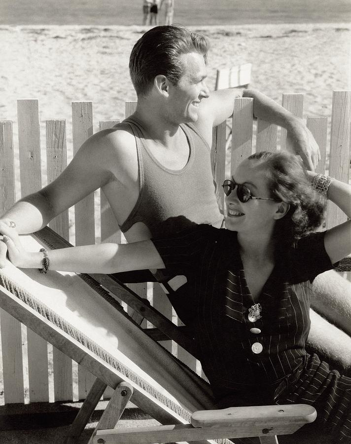 Douglas Fairbanks Jr. With Joan Crawford Photograph by Edward Steichen