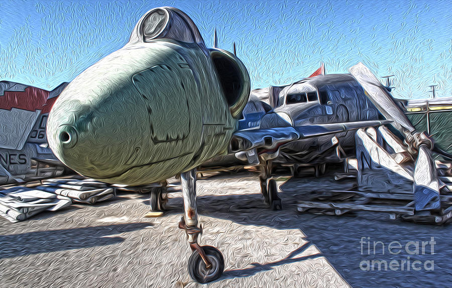 Aircraft Painting - Douglas Skyhawk A-4b by Gregory Dyer