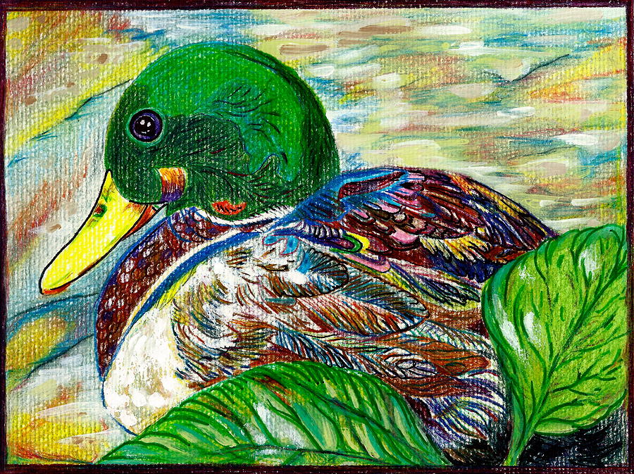 Douglas The Duck Painting