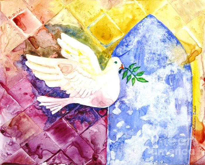 Dove Painting - Dove Of Peace by Shirin Shahram Badie