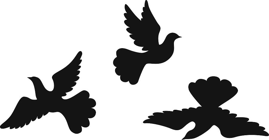 Dove Silhouettes Set by Agrino