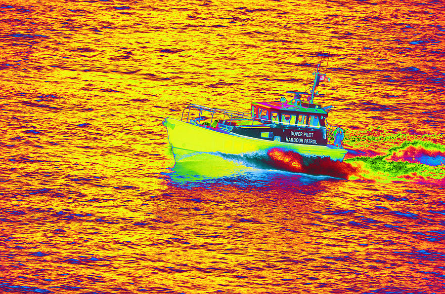 Dover Photograph - Dover Pilot Psychedelicized by Richard Henne