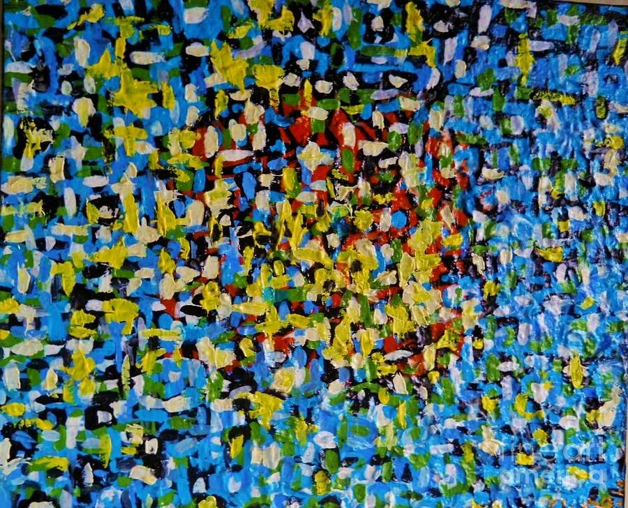 Paintings Painting - Doves In Blue Sky by Evgeniy Eugene Yermolenko