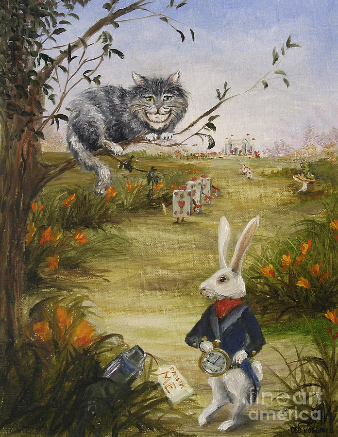 Alice In Wonderland Painting - Down A Rabbit Hole by Stella Violano