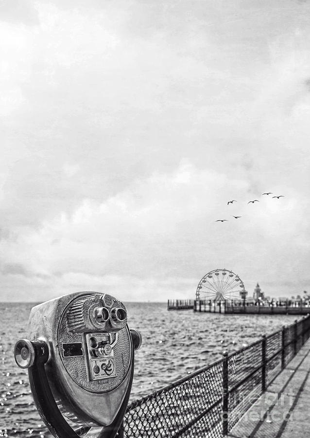 Beach Photograph - Down At The Pier by Edward Fielding