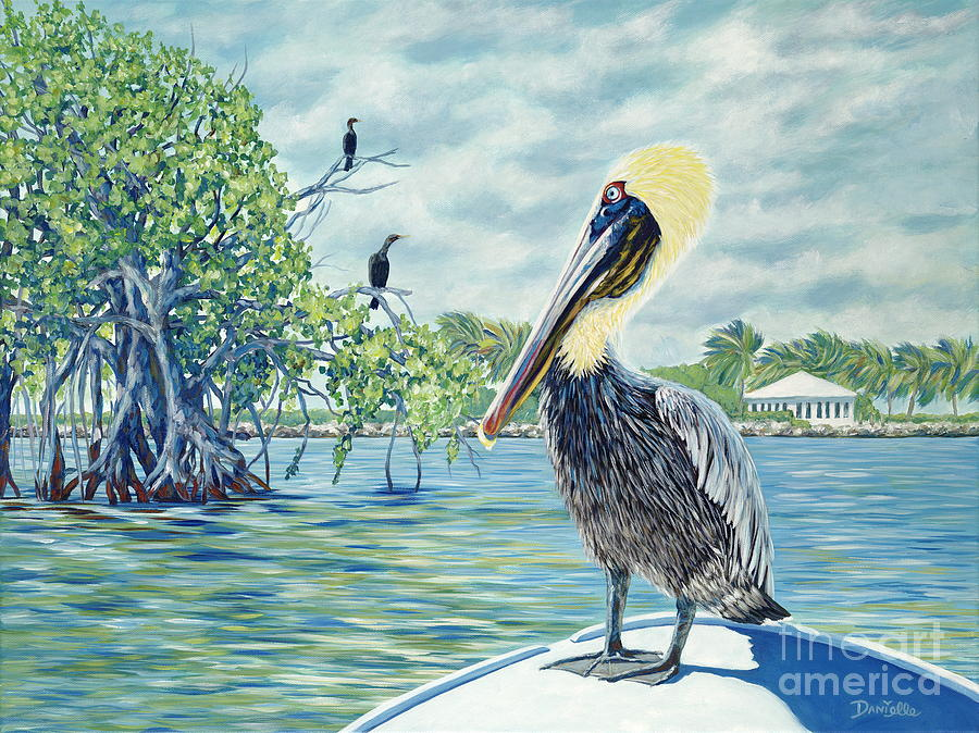 Key Largo Painting - Down In The Keys by Danielle  Perry