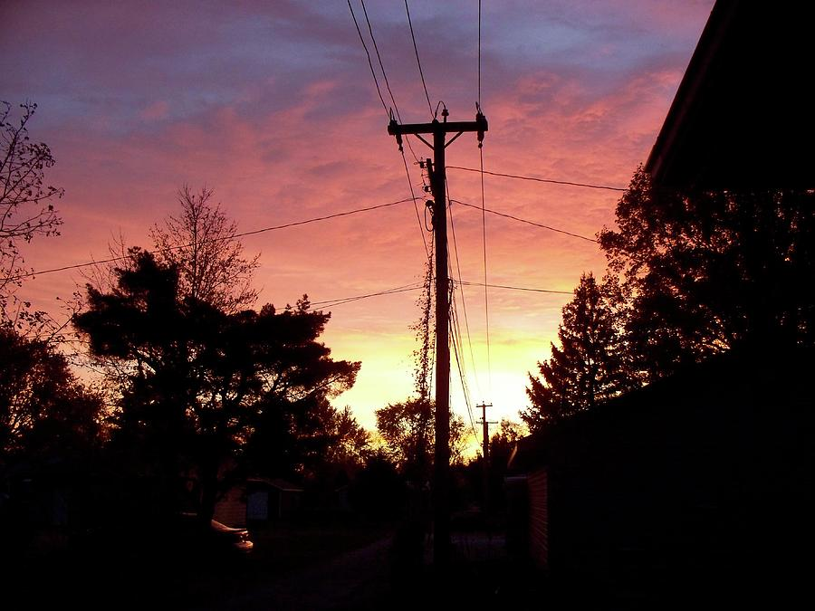 Dwight Photograph - Down The Alley Sunrise by Thomas Woolworth
