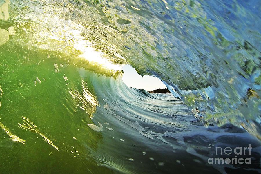Ocean Photograph - Down The Barrel by Paul Topp