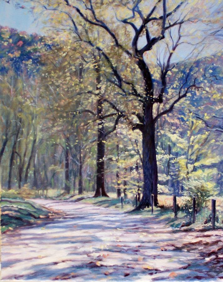 Bonnie Mason Painting - Down The Lane by Bonnie Mason