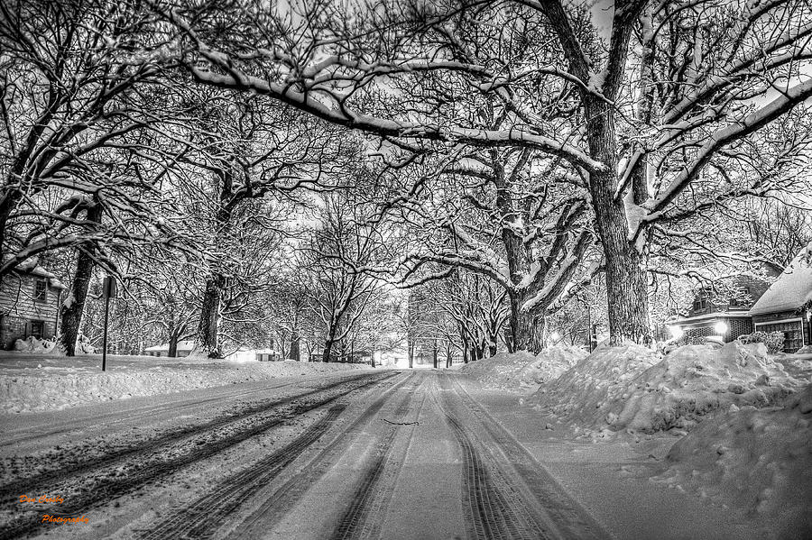 Snow Photograph - Down The Lane by Dan Crosby