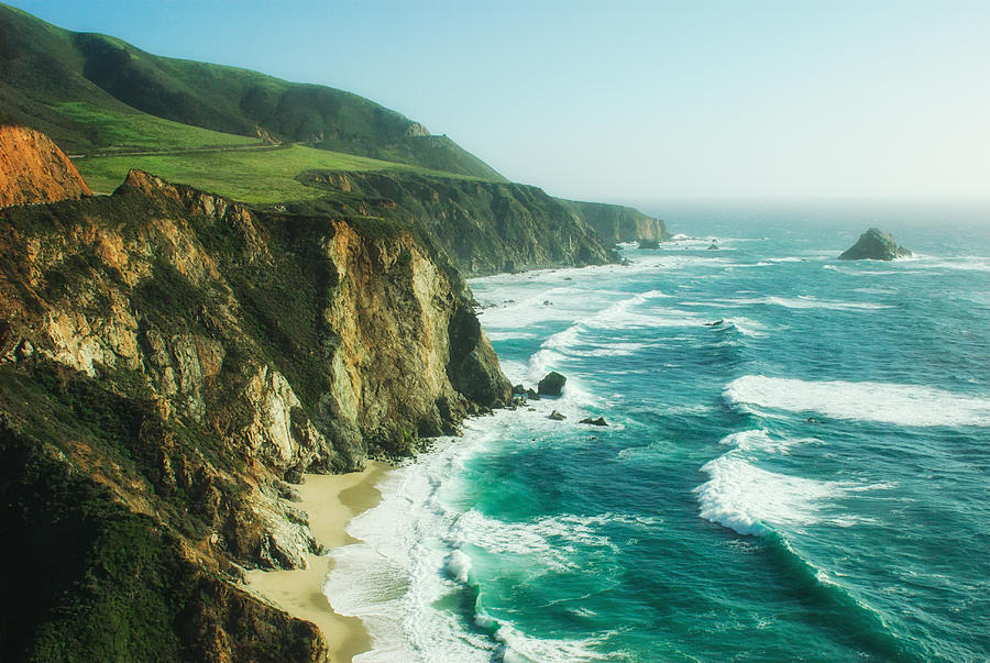 Pacific Coast Highway Photograph - Down The Pacific Coast Highway... by Photography  By Sai