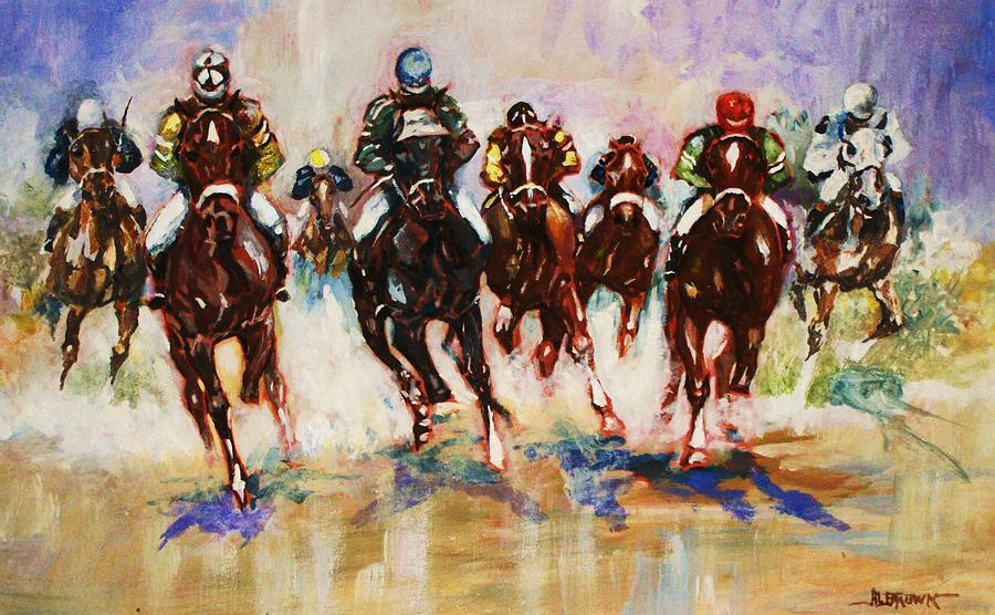 Down the Stretch by Al Brown