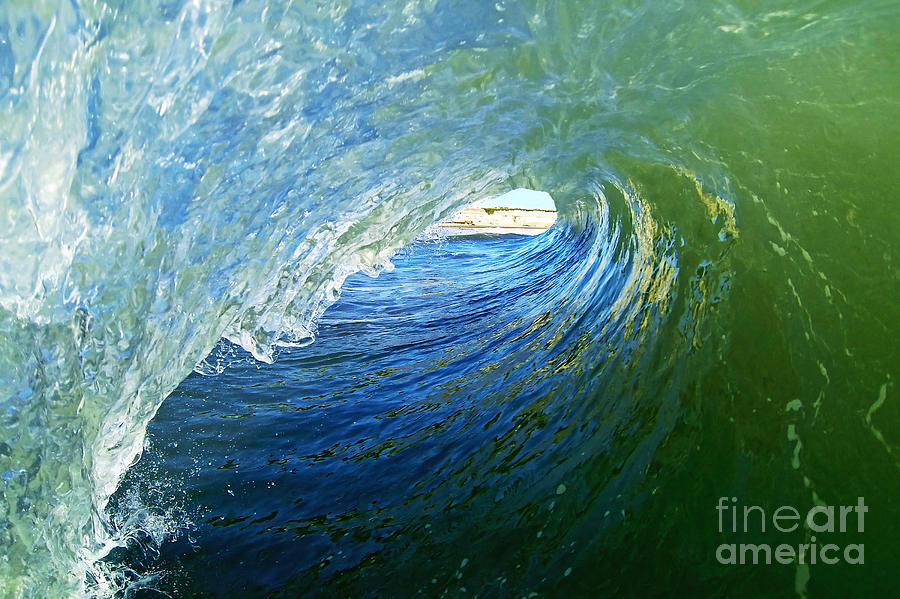 Wave Photograph - Down The Tube by Paul Topp