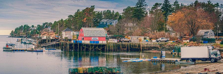 Baileys Island Maine Photograph - Downeast by Guy Whiteley