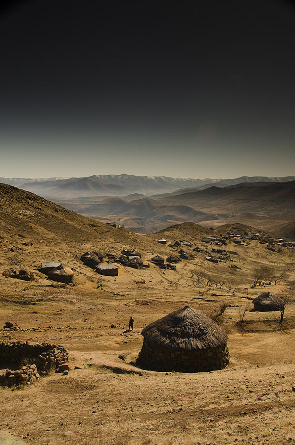 Lesotho Photograph - Downhill by Aaron Bedell