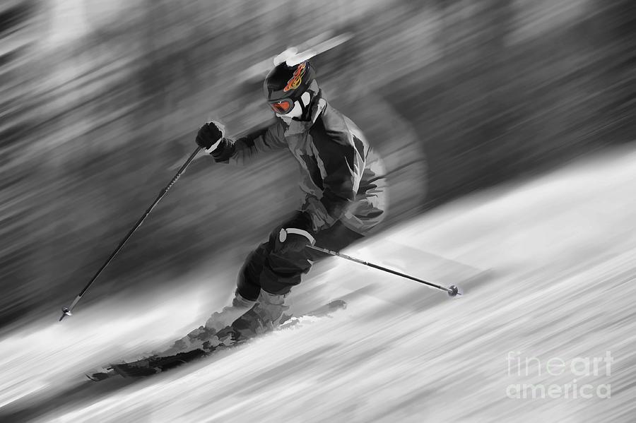 Snow Scenes Photograph - Downhill Skier  by Dan Friend