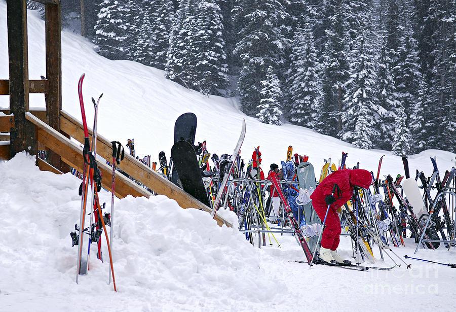 Downhill Skiing Photograph