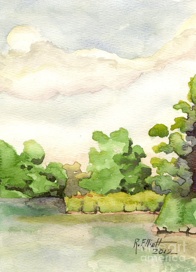 Acrylic Prints Painting - Downriver Napanee by John Herzog