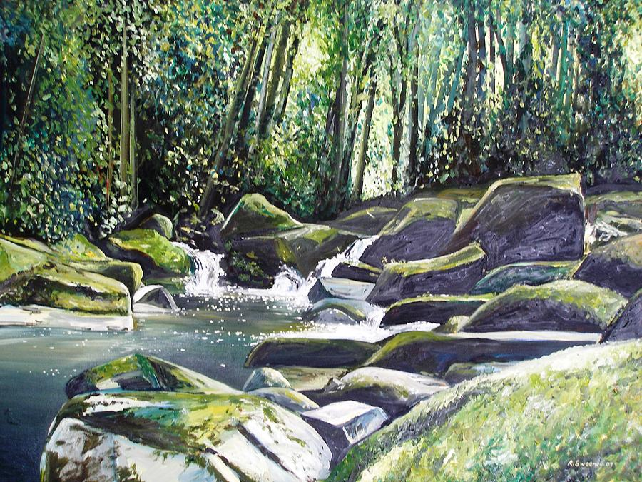 Downstream Painting by Rob Sweeney