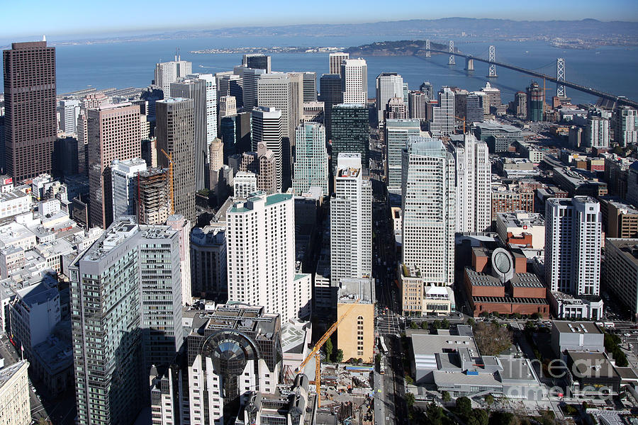 Downtown Aerial Of San Francisco California Photograph By