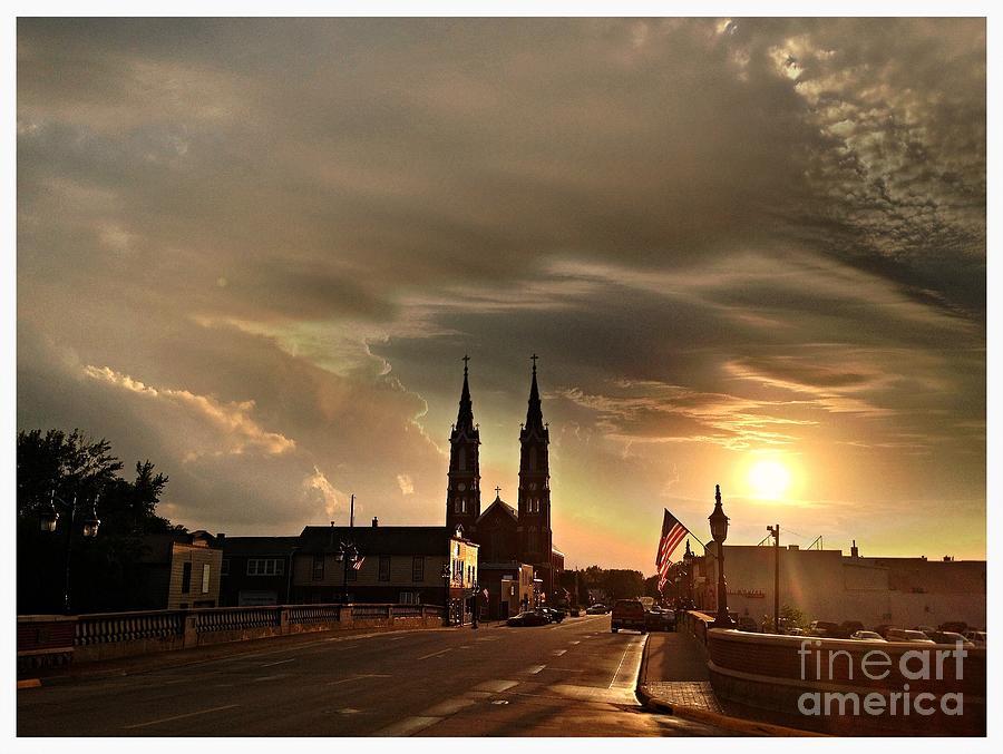 Summer Evening Photograph - Downtown After The Rain by Garren Zanker