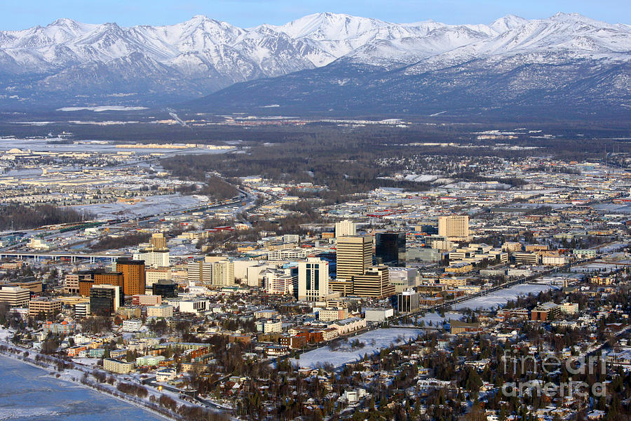 Downtown Anchorage Photograph By Bill Cobb