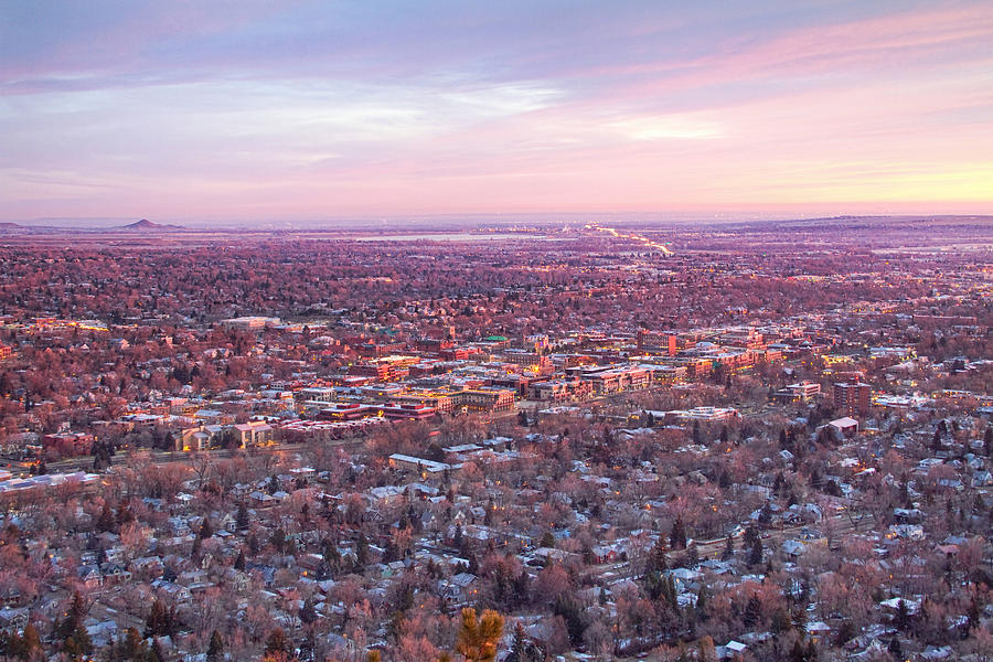 Downtown Boulder Colorado Morning View Photograph