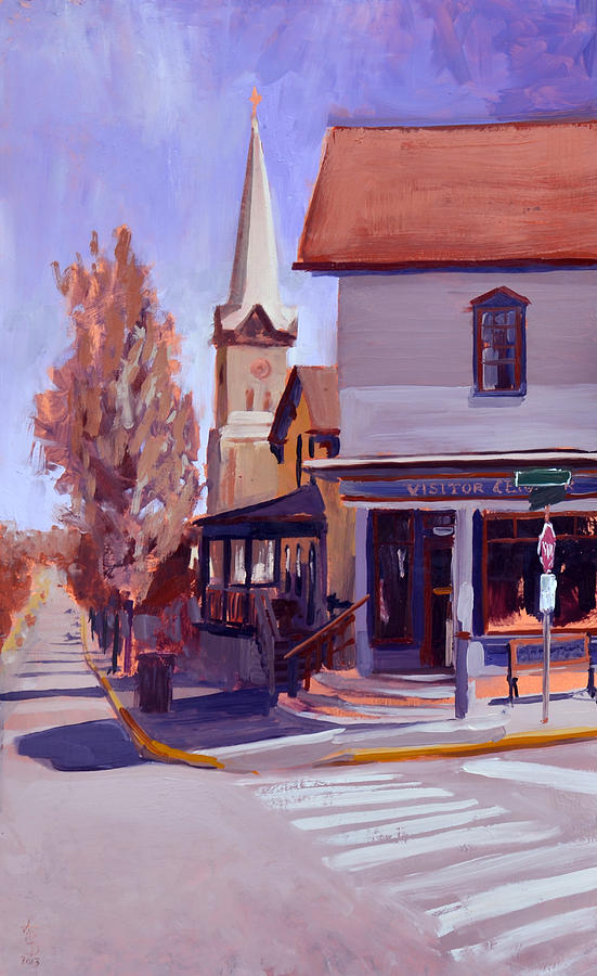 Painting Painting - Downtown Cedarburg by Anthony Sell