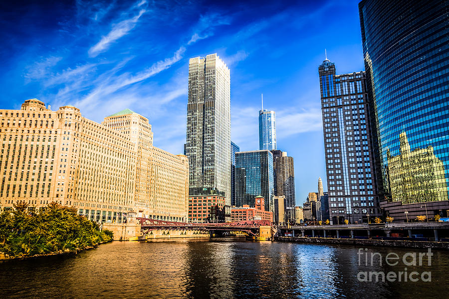 America Photograph - Downtown Chicago At Franklin Street Bridge Picture by Paul Velgos