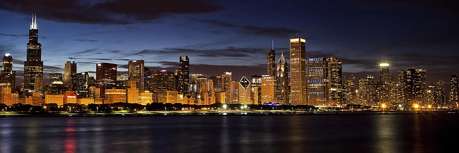 Chicago Photograph - Downtown Chicago Panorama by Andrew Soundarajan