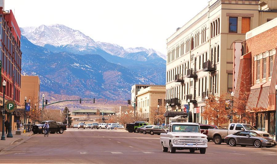 downtown colorado springs colorado photograph by tammy burgess