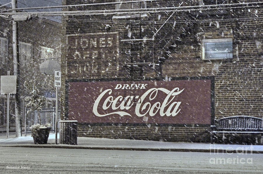 North Carolina Photograph - Downtown Covered In Snow by Benanne Stiens