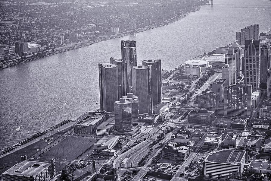 Renaissance Center Photograph - Downtown Detroit by Nicholas  Grunas