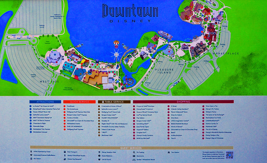 Map Of Downtown Disney Downtown Disney Florida Map Classic Photograph by David Lee Thompson Map Of Downtown Disney