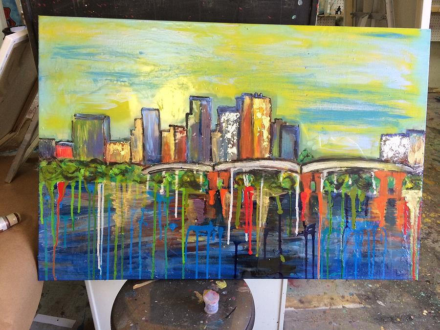 Downtown Drip Little Rock Ar Painting by Lauren Meredith