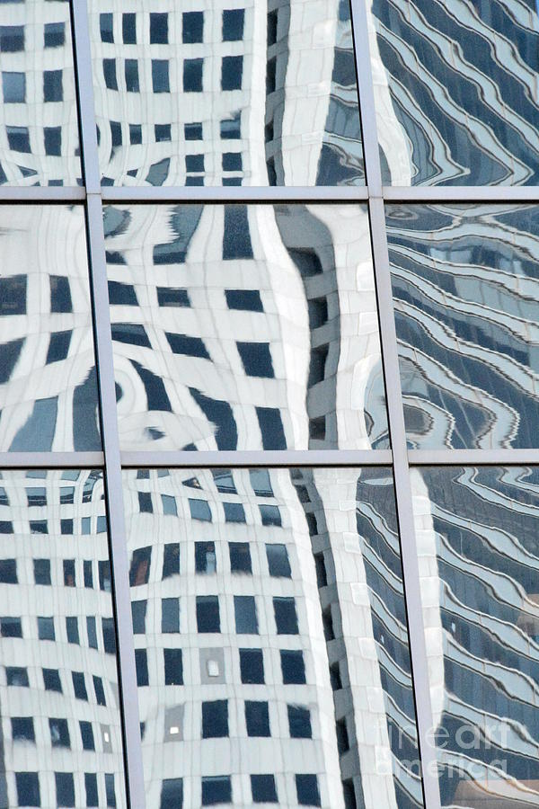 Abstract Cityscape Photograph - Downtown Houston 49h by Thomas Carroll