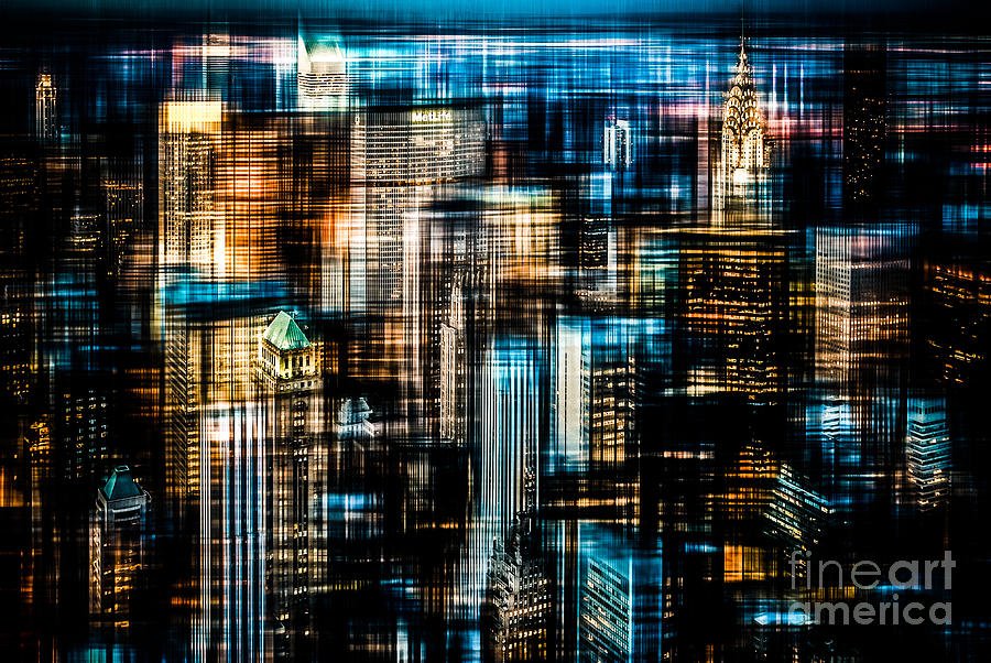 Nyc Photograph - Downtown II - Dark by Hannes Cmarits