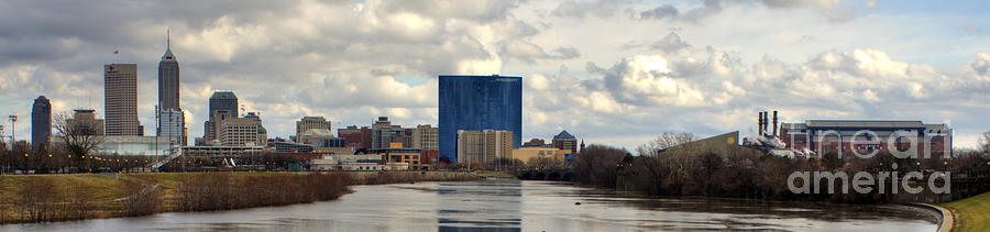Downtown Indianapolis Photograph by Jeffrey Ward