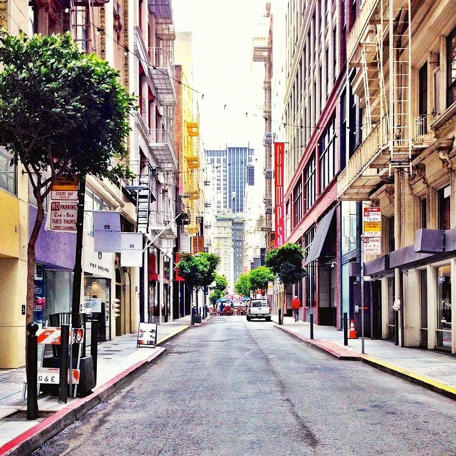Street Scene Photograph - Downtown by Julie Gebhardt