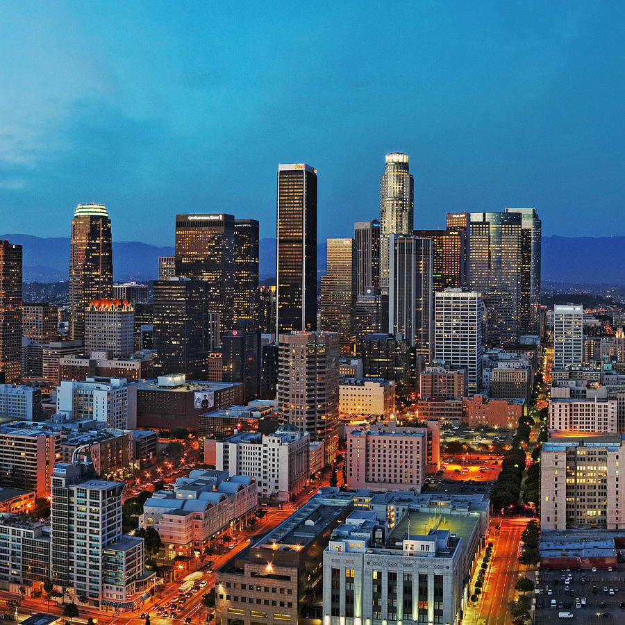 Los Angeles Photograph - Downtown La Square by Kelley King