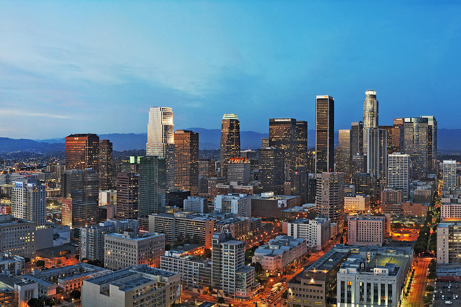 Los Angeles Photograph - Downtown Los Angeles by Kelley King